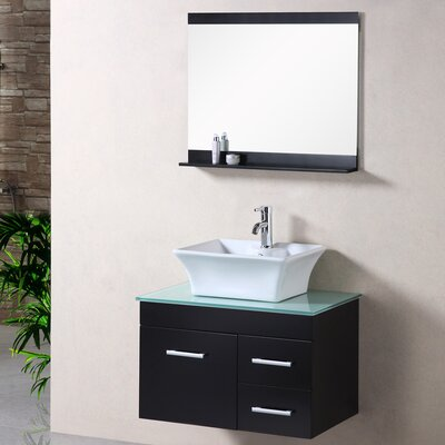Newcastle 30 Single Bathroom Vanity Set with Mirror