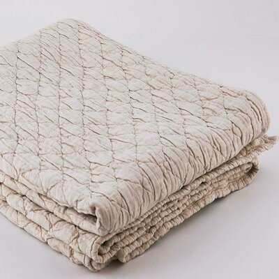 Louisa Coverlet Size: King, Color: Linen