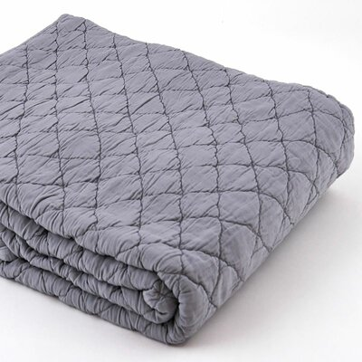Louisa Coverlet Color: Mist, Size: Full / Queen