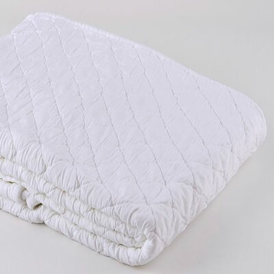 Louisa Coverlet Size: King, Color: White