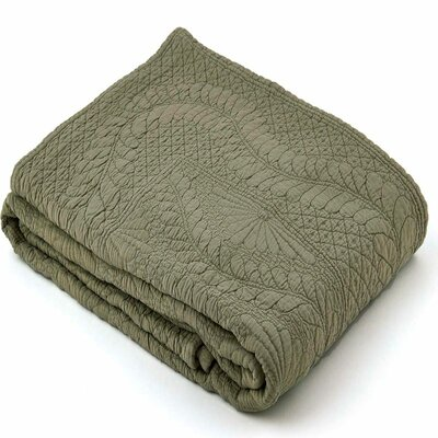 Suzi Coverlet Size: Full / Queen, Color: Sage