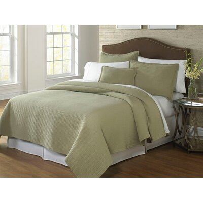 Tracey Coverlet Size: Full/Queen, Color: Sage