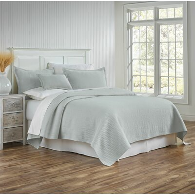 Tracey Coverlet Size: Full/Queen, Color: Seaglass