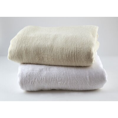 Kashmina Cotton Blanket Color: Ivory, Size: Twin