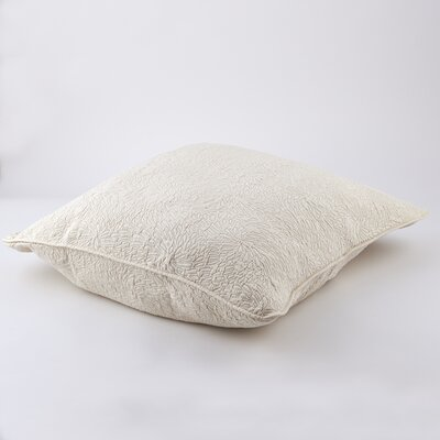 Couture Sham Size: King, Color: Cream