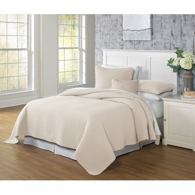 Clare Coverlet Color: Linen, Size: Twin