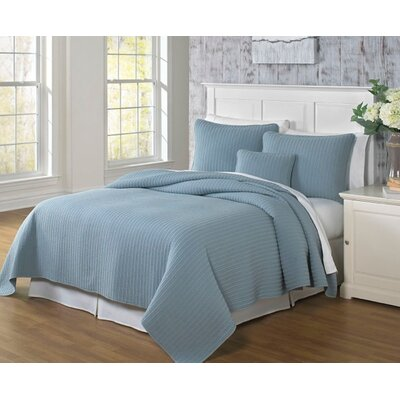 Clare Coverlet Size: King, Color: Slate Blue