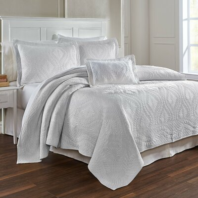 Suzi Coverlet Size: Full / Queen, Color: White