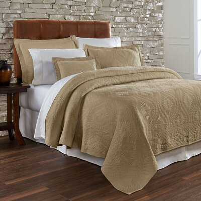 Suzi Coverlet Size: King, Color: Taupe