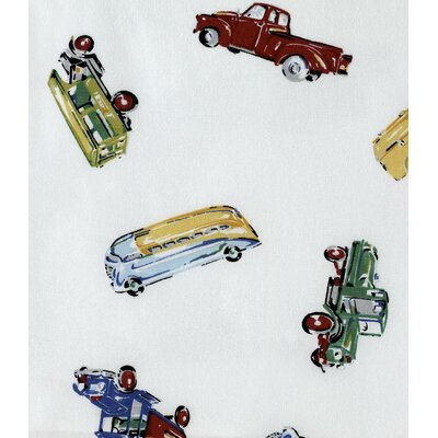 Car Shop Cotton Shower Curtain