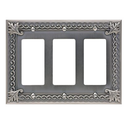 Venetian Triple Rocker Light Switches and Socket Plates