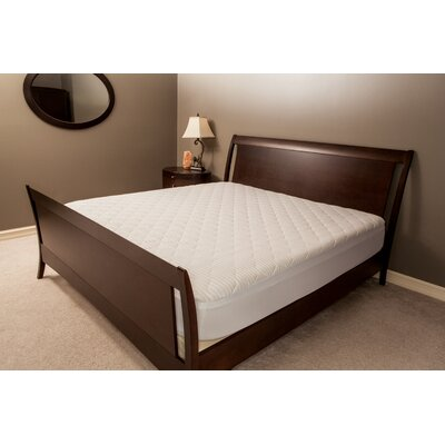 Damask Stripe Mattress Pad Size: Queen