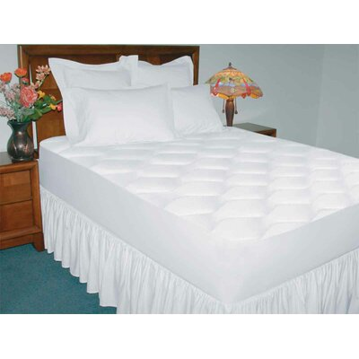 200 Thread Count Cotton Waterproof Mattress Pad Size: Queen
