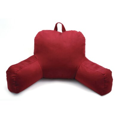 Porter Microsuede Bed Rest Pillow Color: Red
