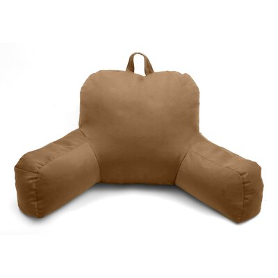 Porter Microsuede Bed Rest Pillow Color: Tan