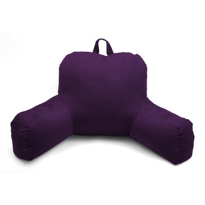 Porter Microsuede Bed Rest Pillow Color: Purple