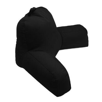 Porter Microsuede Bed Rest Pillow Color: Black