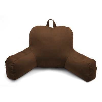 Porter Microsuede Bed Rest Pillow Color: Dark Brown