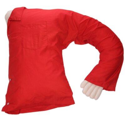 Carlos Boyfriend Body Cotton Bed Rest Pillow Color: Red