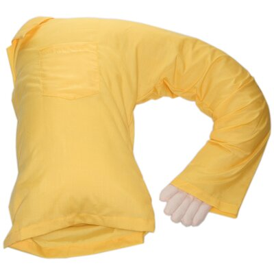 Carlos Boyfriend Body Cotton Bed Rest Pillow Color: Yellow
