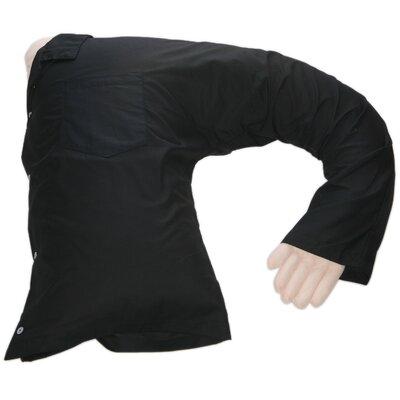 Boyfriend Body Cotton Bed Rest Pillow Color: Black