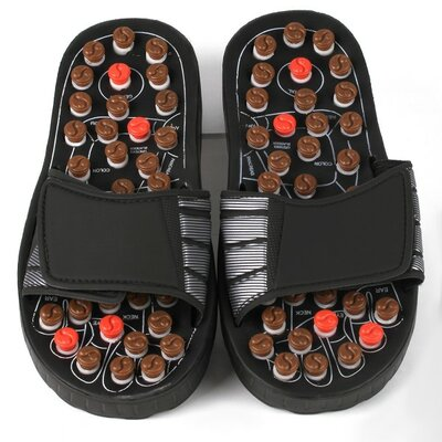 Reflexology Rotating Massage Head Sandal Size: Medium