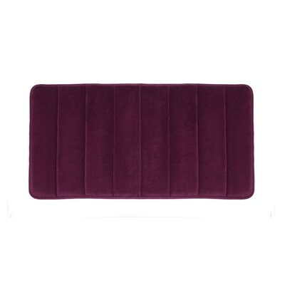 Microfiber Absorbing Bath Mat Color: Purple