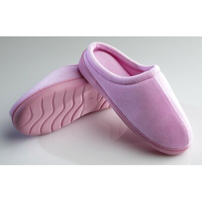 Memory Foam Slippers Size: Large (9-10), Color: Pink
