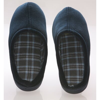 Vamp with Checked Lining Male Slippers Size: 11- 12