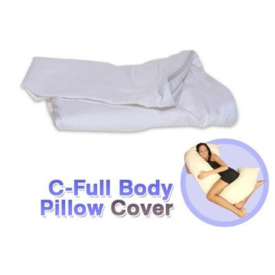 White Cotton Cover for C - Full Body Pillow