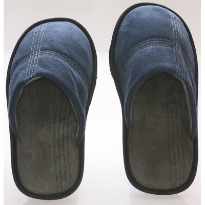 Suede Polar Fleece Mens Slipper Size: 9- 10