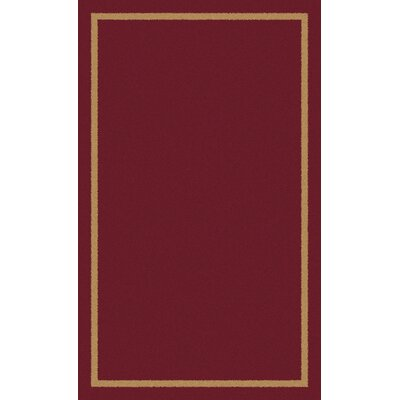 Henley Hand-Tufted Red Area Rug Rug Size: 8 x 10