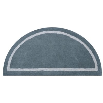 Henley Knotted/Tufted Wool Gray Area Rug Rug Size: Half Round 110 x 38