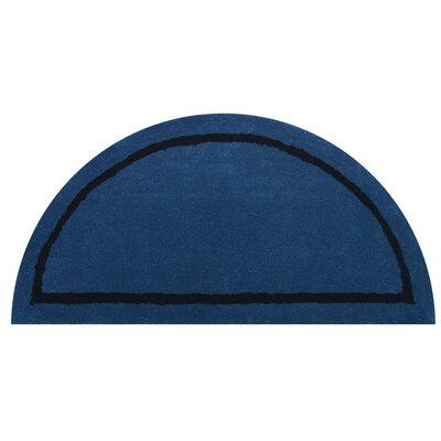 Henley Blue Area Rug Rug Size: Half Round 110 x 38