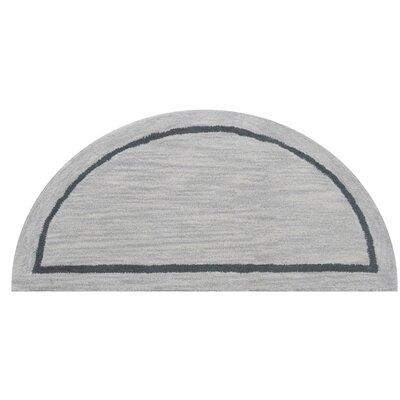 Henley Silver Area Rug Rug Size: Half Round 110 x 38