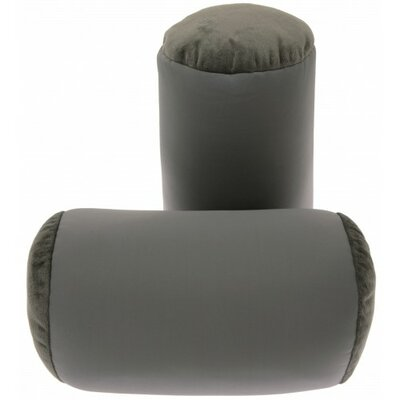 Microbead Neck Roll Bolster Pillow Color: Gray