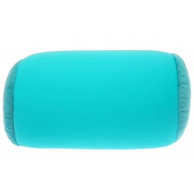 Microbead Neck Roll Bolster Pillow Color: Teal