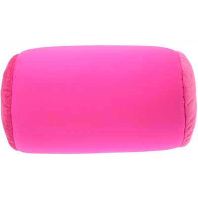 Microbead Neck Roll Bolster Pillow Color: Rosa Red Hot Pink