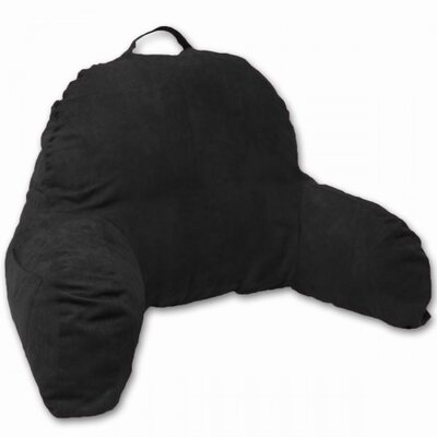 Microsuede Bedrest Pillow Color: Black