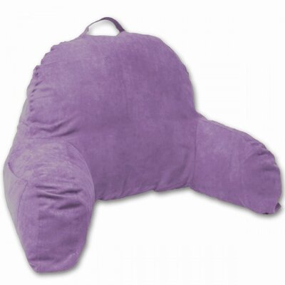 Microsuede Bedrest Pillow Color: Light Purple