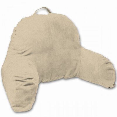 Microsuede Bedrest Pillow Color: Taupe