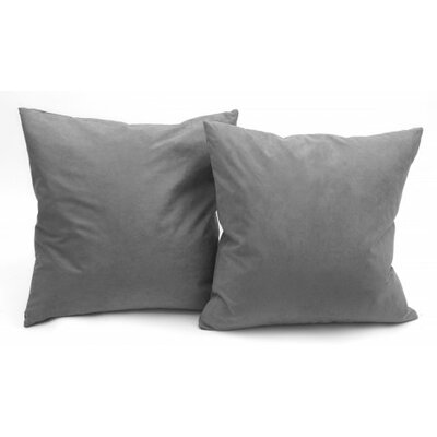 Microsuede Couch Throw Pillow Color: Gray