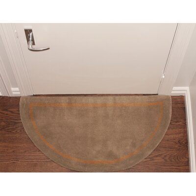 Henley Striped Border Doormat Color: Camel