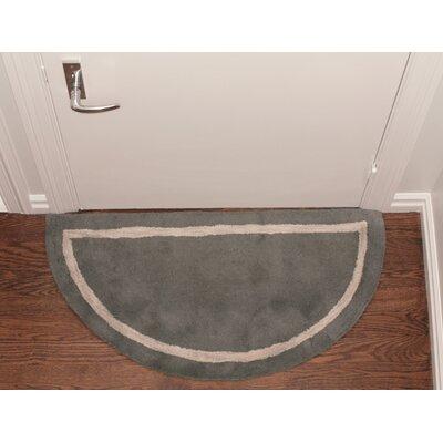 Henley Striped Border Doormat Color: Grey