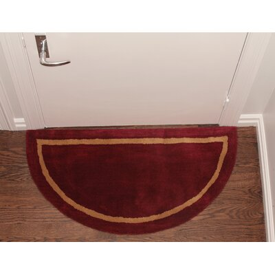 Henley Striped Border Doormat Color: Red