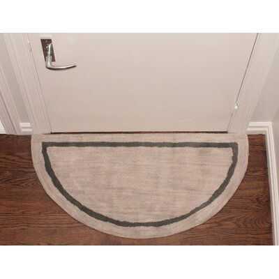 Henley Striped Border Doormat Color: Silver