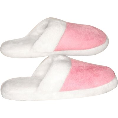 Ladys Suede Fur Trimmed Slipper Size: Small