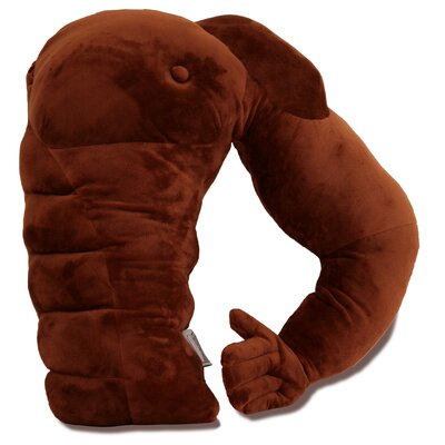 Boyfriend Muscle Man Arm Plush Throw Pillow Color: Brown