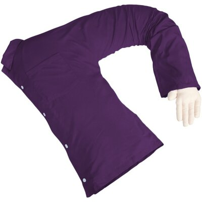 Carlos Boyfriend Body Cotton Bed Rest Pillow Color: Purple