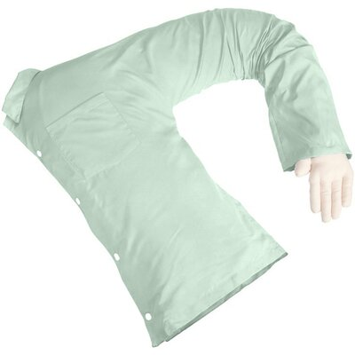 Boyfriend Body Cotton Bed Rest Pillow Color: Green